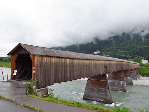 Covered Bridge over Rhein, Switzerland