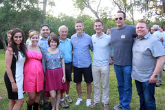Ron Paul & Vince Vaughn with supporters (Gage Skidmore) Tags: lake paul texas vince bbq jackson ron summit annual vaughn