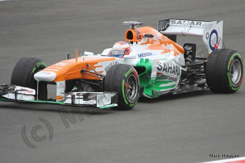Paul Di Resta in Free Practice 2 at the 2013 British Grand Prix