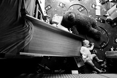 have a rest /explore/ (I.Dostl) Tags: bear bw baby white black sleep explore cb vystava