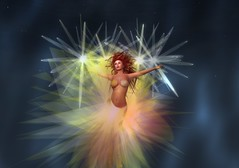 Etoile (Gwen Carillon) Tags: light sun stars fire star dance gown gcdgwencarilliondesigns