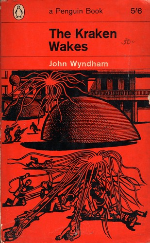 "The Kraken Awakes by John Wyndham. Penguin 1964. Cover artist Denis Piper • <a style=""font-size:0.8em;"" href=""http://www.flickr.com/photos/75422475@N02/9383797420/"" target=""_blank"">View on Flickr</a>"