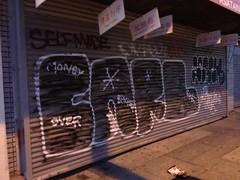 Cancer Carl Beach (Franny McGraff) Tags: beach graffiti oakland bay us cancer carl area nasty bkf tck