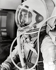 Alan Shepard in Space Suit before Mercury Launch (NASA on The Commons) Tags: helicopter projectmercury alanshepard usslakechamplain mr3 freedom7capsule