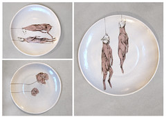 galgo (merelcremers@live.nl) Tags: flowers greyhound plate tribute porcelain galgo
