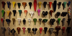 Butts Come in All Sizes (michael.veltman) Tags: chicago industry bike bicycle museum illinois seat science seats