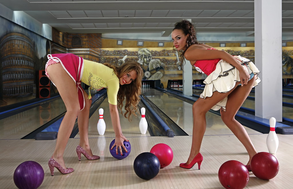 Sexy girl bowling — 11