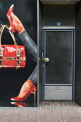 closed (Heidelknips) Tags: door red bag shoes closed highheels shut holdme