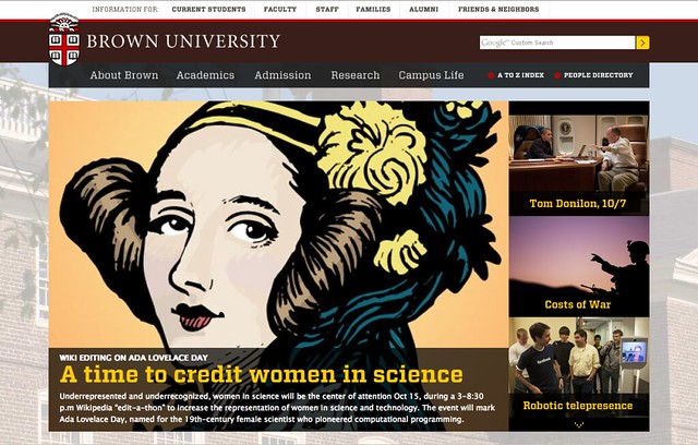 Thumbnail for Ada Lovelace Day Wikipedia Edit-a-thon 2013 @ Brown