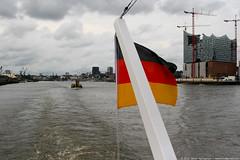 Hamburg Harbor and Elbphilharmonie (Vahan Aghajanyan) Tags: water germany deutschland harbor boat hamburg hafen elbe elb корабль лодка elbphilharmonie германия elphilharmonie гамбург ельба