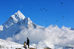 Himalaya Couple (AvijitNandy) Tags: trek canon mark iii ama 5d ebc dablang