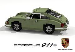 Porsche 911 - 1963 (lego911) Tags: auto birthday original classic car germany model lego anniversary render 911 german porsche 72 coupe challenge 6th cad sportscar lugnuts 1963 1960 povray moc ldd miniland lego911 911a lugnuts6thanniversary