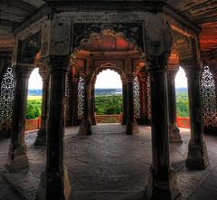 Agra IND - Agra Fort Jamuna River valley