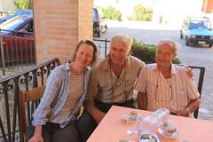 Letitia Blake, Nick Young, Antonio Millozzi at Monte San Martino day one