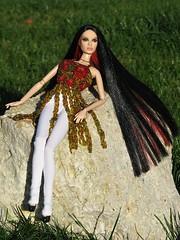 Bronwyn in beaded tunic (nauriel :-)) Tags: doll ooak barbie joan jett mattel reroot