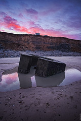 Happisburgh - pillbox (Nick J Stone) Tags: surge phew pillbox happisburgh stillthere 2896