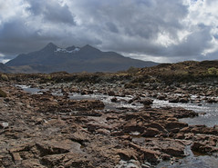 River Sligachan looking upon Glamaig, Scotland