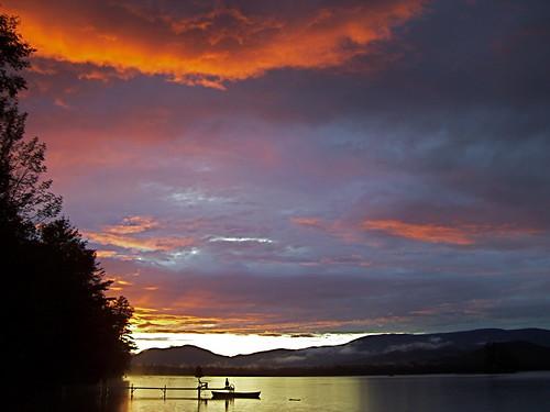 Ellis/Roxbury Pond Sunset - R Swain