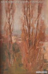Romualdo Prati Alberi olio su tavola 33x22cm di Collezione privata