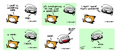 """""""i love u whirring orb"""" - a Yo & Dude comic by eric Hews  2013 (eric Hews) Tags: auto copyright dog television illustration cat fun virginia robot funny eric artist comic with heart you drawing who yo humor cartoon emo creative culture funnies philosophy pop richmond dude strip sound automatic writer comicstrip mean illustrator haha toon coming really comfort simple behavior society hearing sounds hear psychology heartbeat terms whir hews 2013 whirring yodude erichewscom yoanddude erichews yoanddudecom yodude 2013erichews ennuizle"""