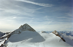 (xbacksteinx) Tags: blue shadow sky mountains alps film analog 35mm austria big october mood moody glacier hintertux pointnshoot c41 kodakgold200 olympusmjuii