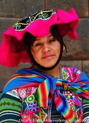 Una Mujer con Sombrero (Ok More Photos) Tags: portrait people woman peru face hat cuzco persona mujer gente retrato femme chapeau sombrero personne peruvian peruana