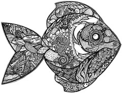 Fish2 (artyshroo) Tags: sea fish nature marine wildlife zentangle wwwartyshrooblogspotcouk