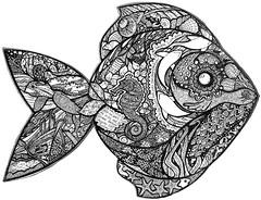 Fish2 (artyshroo) Tags: sea fish nature marine wildlife zentangle wwwartyshrooblogspotcouk
