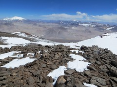 Looking south from the UPAME summit (6800m) of Pissis