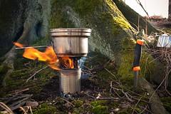 Cooking in the woods :) (damianjankowiak) Tags: wood cooking burning stove canteen companion hobo mora helikontex