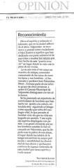 Carta enviada al Director de El Mercurio de Valparaíso por el Señor Director del Deparamento de Bachillerato de la Universidad Andrés Bello, Campus Viña del Mar, Dr. Salvador Lanas , domingo 25 de abril de 2006.