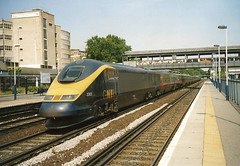 GNER Eurostar Class 373 3302 & 3301 - Kensington Olympia, London (dwb transport photos) Tags: london eurostar railway emu gner kensingtonolympia 3302