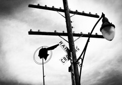 Ahead in the poles (hutchphotography2020) Tags: signs lamppost pontiac poles railroadcrossing httphutchphotography2020wordpresscom