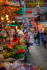 Hong Kong Street Market on the walk to breakfast...