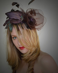 Austin~ (tracyholcombdesigns) Tags: sanfrancisco hat fashion vintage beautifulwoman deco couture fascinator edwardianball kentuckyderbyhat hairwear featherhairpiece tracyholcomb vintagehairpieces tracyholcombhairwearcom httpsmvhbmyshopifycom