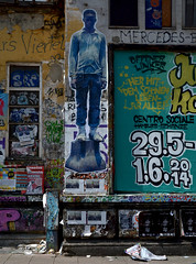 HH-Wheatpaste 1736 (cmdpirx) Tags: street urban color colour pasteup art public wall cutout painting poster fun graffiti stencil nikon paint artist 7100 d space raum wand kunst strasse wheatpaste paste glue hamburg humor cement can spray crew hh piece aerosol kleber knstler wheatepaste schablone kleister ffentlicher