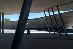 _DSC3920 (durr-architect) Tags: park city light france car architecture concrete space strasbourg service rough nord beton tramline terminus brut zaha hadid sichtbeton hoenheim