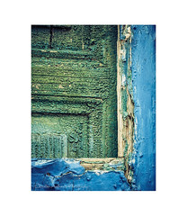Window paint (Christos Andronis) Tags: wood old blue green yellow paint