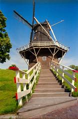 Stairs to the windmill (RvanDonderen) Tags: holland netherlands fuji superia 200asa olympus om10 groningen garnwerd anolog