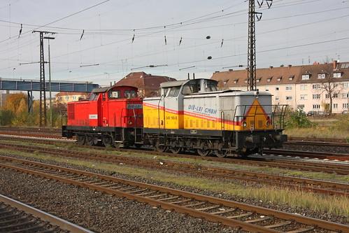 Die-Lei 345 165 5 und 345 159-8 Aschaffenburg