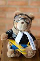 Urso Catrapo e Boeing Stearman (raphaelbrescia) Tags: nikon 50mm gravidez grávida ensaio pregnancy photography pergnant urso de pelúcia boeing bear aviador aviator