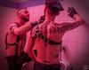 Tom & Joe 02 (WF portraits) Tags: portrait male men onlocation toilet leather gayleather harness duo couple tattoos beard gaybeards gloves club usa aut
