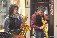 N2122836 (pierino sacchi) Tags: kammerspiel brunocerutti feliceclemente igorpoletti improvvisata jazz letture libreriacardano musica sassofono sax stranoduo