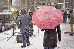 A7iI  NYC , MidTown,  3/14/17 (Cal Eagle) Tags: midtown nyc manhattan caleagle2017 streetphotography a7ii snow sonya7ii columbuscircle centralpark