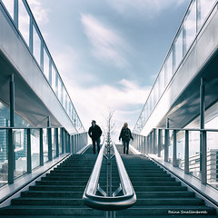 Divided (Reina Smallenbroek) Tags: reinasmallenbroek utrecht divided verdeeld nottoohappy stairs trap manandwoman manenvrouw people mensen straatfotografie streetshot streetphotography canon