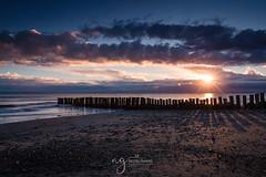 Gyles Quay (Pastel Frames Photography) Tags: gylesquay colouth ireland sunset clouds sand beach colours sun rays shadows canon5dmark3 2470mm