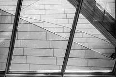 Fondation Louis Vuitton. (Aurelia Li) Tags: blackwhite lines windows louisvuitton museum paris france reflection