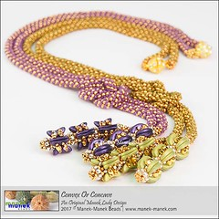 Convex Or Concave (The Manek Lady) Tags: maneklady lariat instruction tutorial beading bead weaving russian spiral crescent clasp necklace firepolish