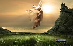Carlos Atelier2 - Liberdade (Carlos Atelier2) Tags: carlos atelier2 mulher castelo dança cor pastel voo fantasy dance floating dancing imagination castle