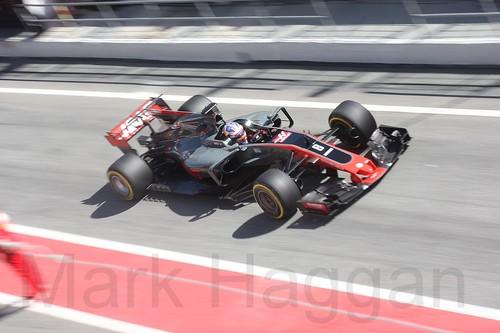 Romain Grosjean in Formula One Winter Testing 2017